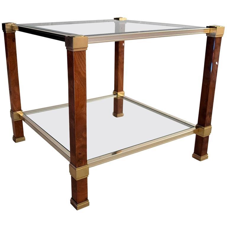Mid-Century Two Tier Modern Pierre Vandel Side Table