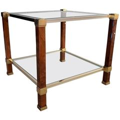 Mid-Century Two Tier Modern Pierre Vandel Side Table