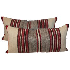 Pair of Navajo Indian Saddle Blanket Pillows