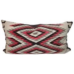 Monumental Navajo Indian Weaving Bolster Pillow