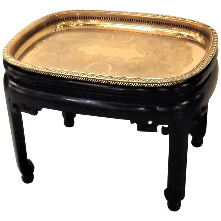 Black Lacquered Tray Top Cocktail Table For Sale At 1stdibs