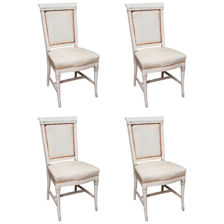 Set of Four 1900's French Dining Chairs