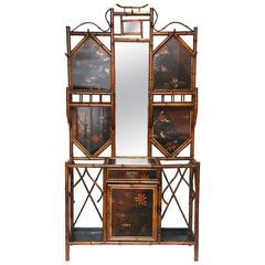 Beautiful 19th Century English Bamboo Hall Stand