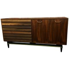 1950s American Walnut Credenza by American of Martinsville