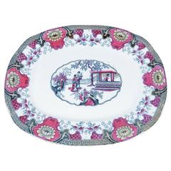 19th English Transferware Platter Canton
