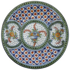 French Faience Platter Saint Clement, circa 1900