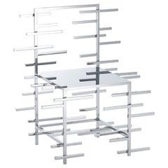 """nendo, """"Manga Chair (05)"""", Stainless Steel, Mirror"""