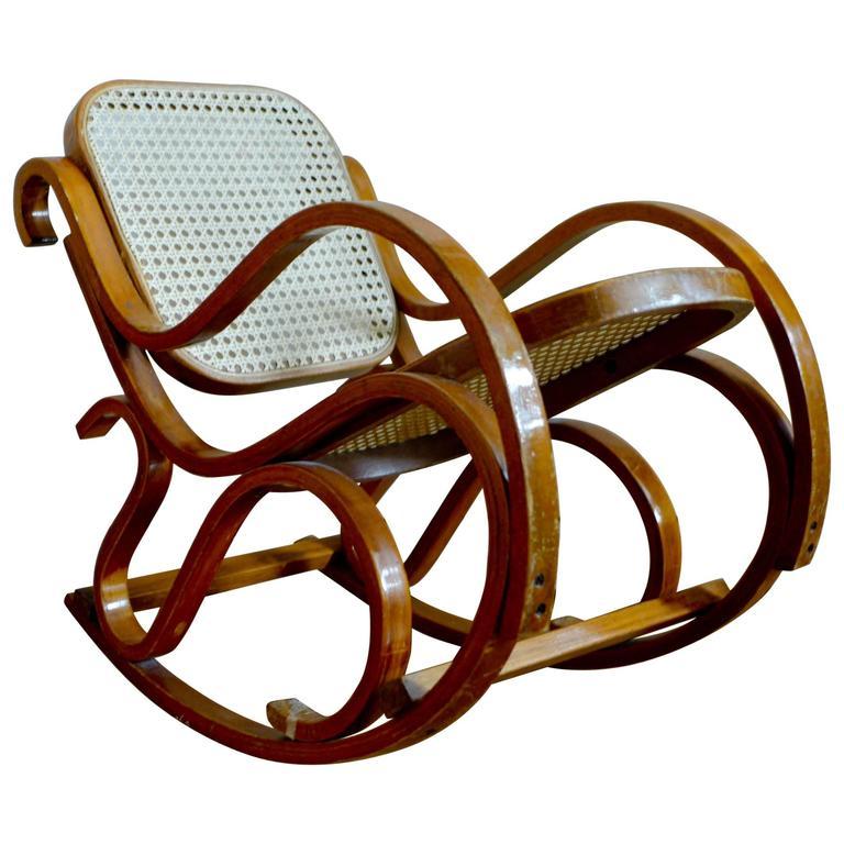 Vintage Bentwood Child's Rocking Chair, circa 1940s