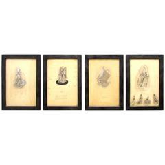 Four Maybelle Stamper Lucite Sculpture Designs