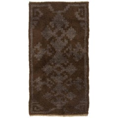 Vintage Tulu Rug. 100% Natural Undyed Brown, Gray Wool. Custom Options Available