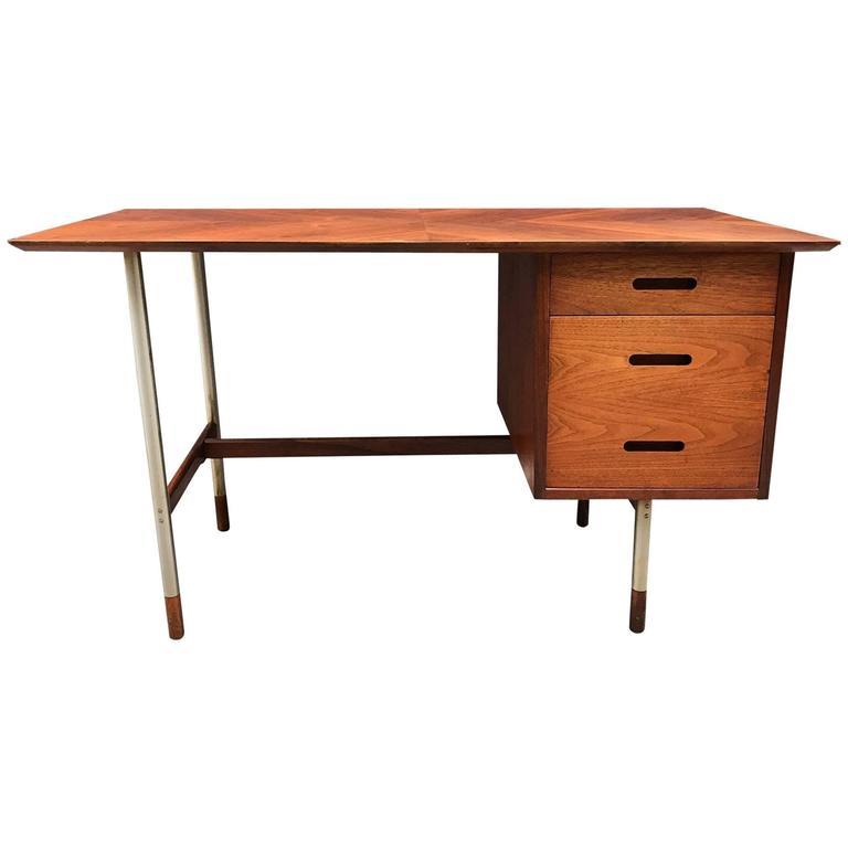 Jack Cartwright For Founders Danish Modern Teak Desk For Sale