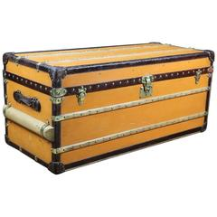 1920s Louis Vuitton Trunk in Orange Vuitonitte Canvas
