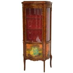 Antique French Style Ormolu-Mounted Display Cabinet