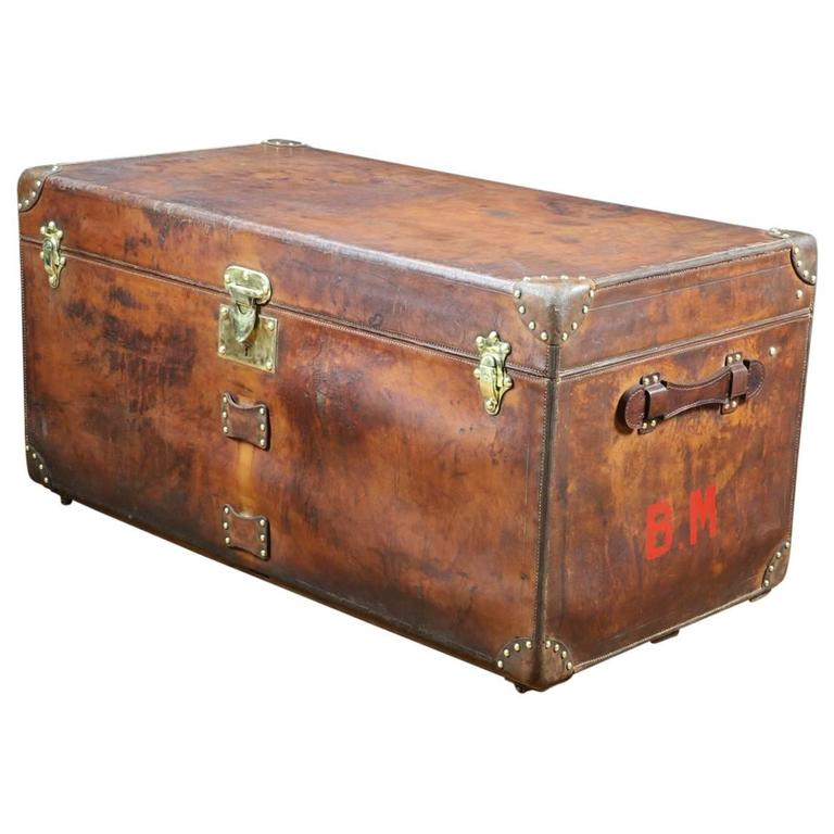 Leather Steamer Trunk 77