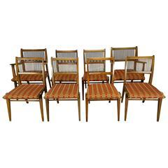 Set of 8 Modernist Dining Chairs Designed by John Van Koert for Drexel's Profile