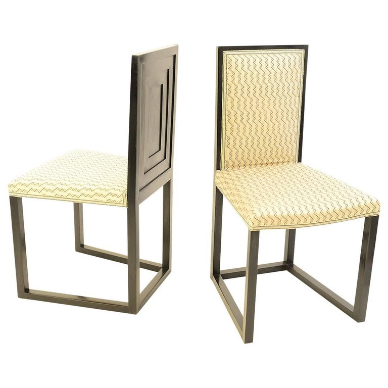 Pair of original Josef Hoffmann & Wiener Werkstätte Chairs 1904 Jugendstil   For Sale