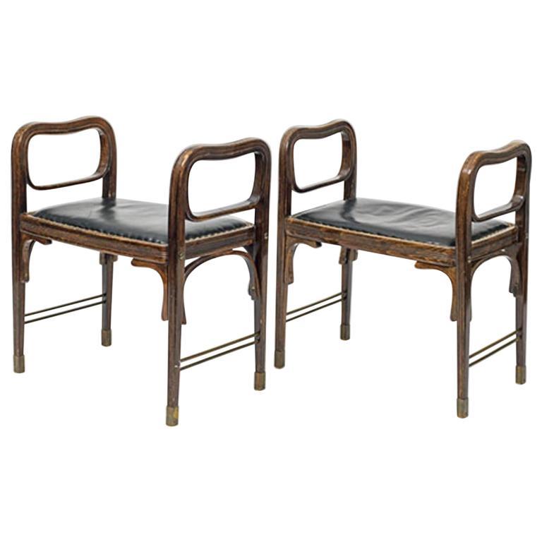 Otto Wagner and Jacob & Josef Kohn, 1900, Original Stools For Sale