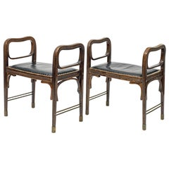 Original Viennese Secessionst Otto Wagner Jacob&Josef Kohn Stools