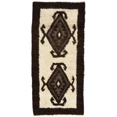 Unusual Tulu Rug Made of Natural Undyed Wool