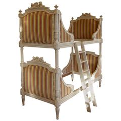 Louis XVI Style Bunk Beds/Matching Pair of Single Beds