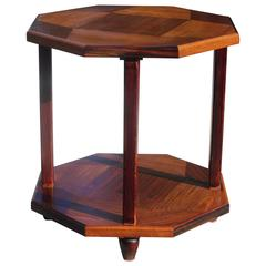 Stunning French Art Deco Octagonal Coffee Table or Gueridon, circa 1930s