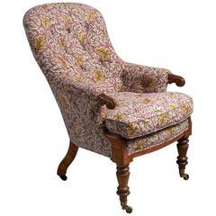 Early Victorian Satin Birch Armchair