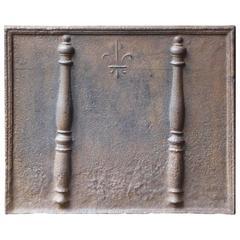 18th Century Pillars with Fleur De Lis Fireback