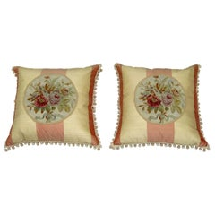 Pair of 18th Century French Aubusson Pillows