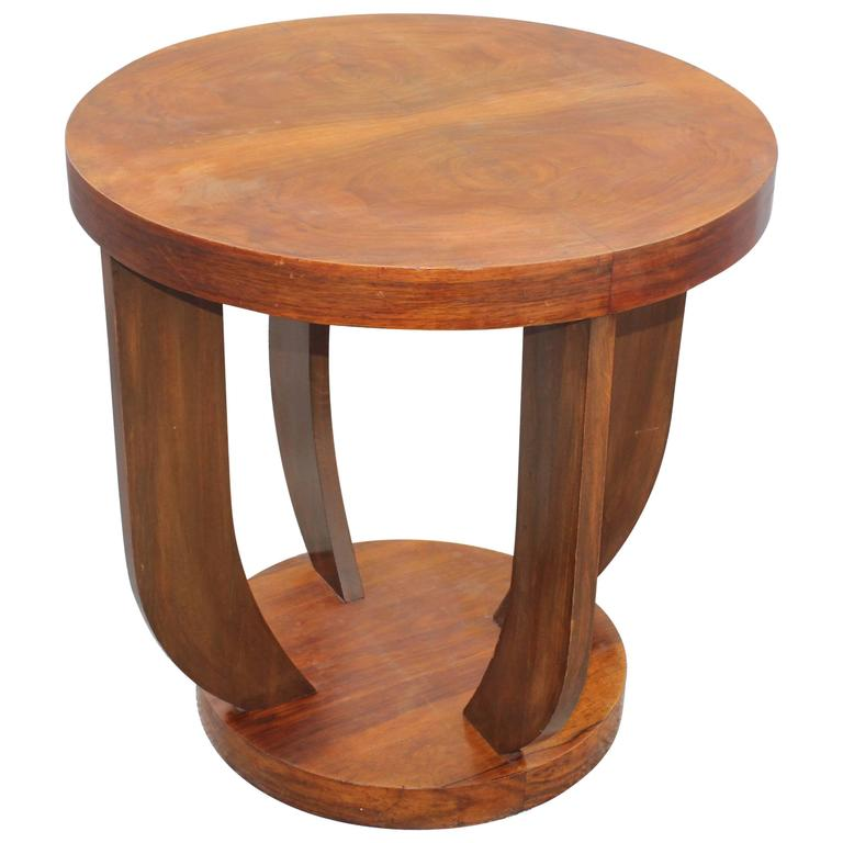 French Art Deco Coffee Table Or Gueridon Exotic Walnut Circa 1930s For Sale At 1stdibs