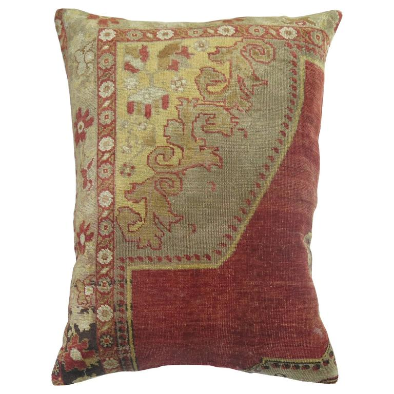 Vintage Floor Pillows : Antique Floor Size Rug Pillow For Sale at 1stdibs