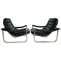 Rare Pair of Maga Lounge Chair, circa 1970