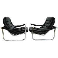 Rare Pair of Maga Lounge Chair, circa 1970