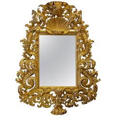 Exceptional Giltwood Baroque Mirror