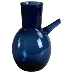 Decanter in Blue Glass by Timo Sarpaneva for Iittala
