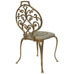 Gold Leafed Vanity Chairs by Thinline Mfg