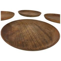 Bob Stocksdale Set of Four Wood Turned Plates in Shedua Wood