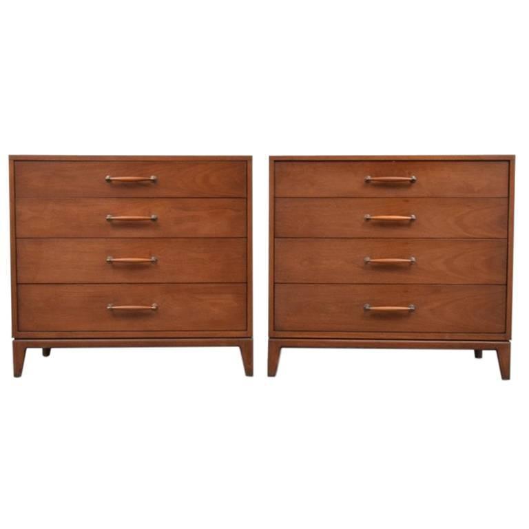 Pair of Bachelor Dressers by Henredon, 1960s, USA