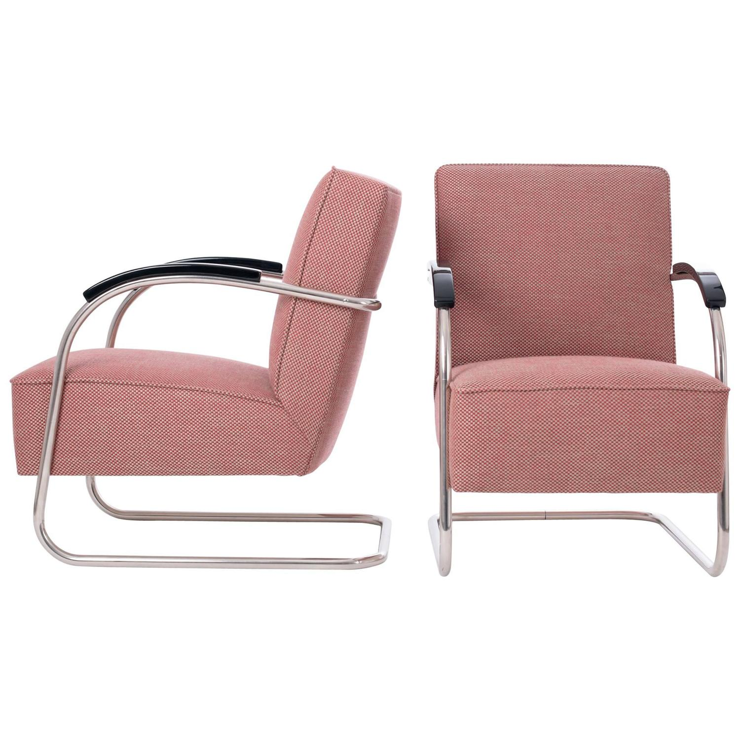 Bauhaus tubular steel lounge chair at 1stdibs - Fn 21 Tubular Steel Armchairs From M Cke And Melder 1930s For Sale At 1stdibs