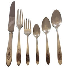 Bird of Paradise by Community Silver Plate Flatware Set for 12 Service 80 Pieces