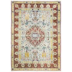 """Antique Turkish Hereke Carpet  6'6"""" x 9'5""""."""