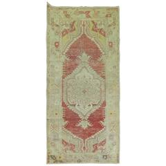 Shabby Chic Oushak Throw Runner