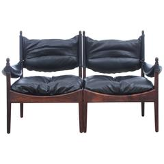 Mid-Century Modern Danish Two Seats Sofa in Rosewood Model Modus
