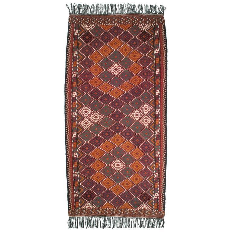 Afghan Tribal Kilim Rug