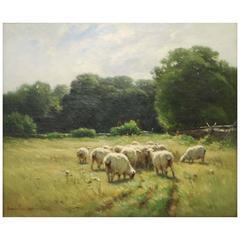 Carleton Wiggins, Pastoral Landscape, Oil on Canvas, Signed
