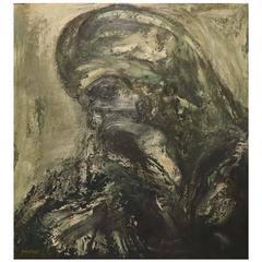 """Joachim Probst, """"Christ Doomed"""", Oil on Board, Signed"""