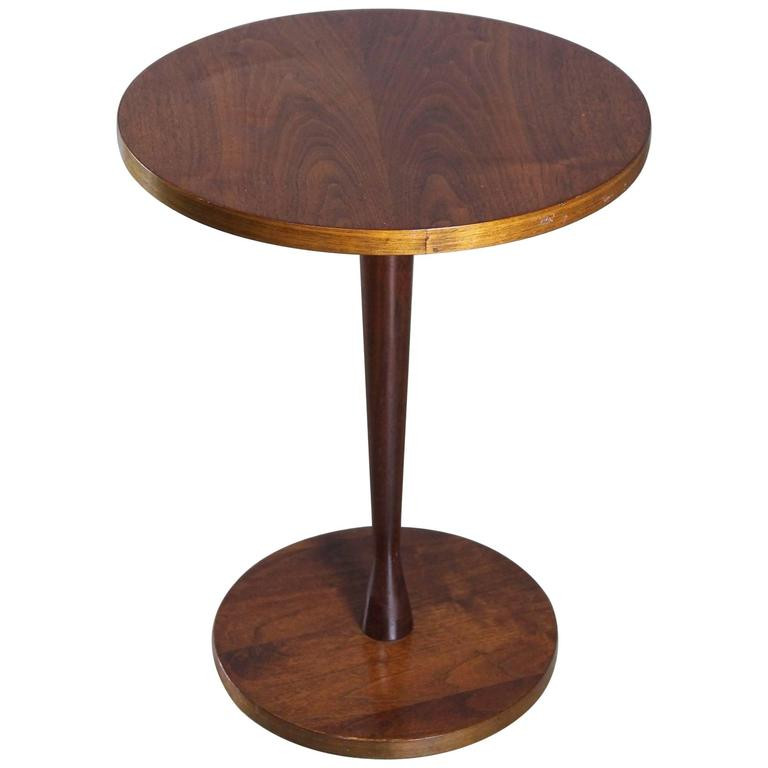 Small round walnut occasional table circa 1960s at 1stdibs for Small occasional tables