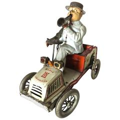 "Lehman ""Tut-Tut"" Clockwork Car with Driver, German, Patented 1903"