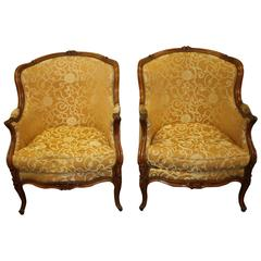 19th Century Pair of Bergeres