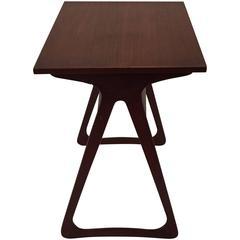 Danish Modern Triangle Base Side Table