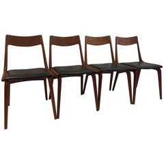 Four Erik Christensen For Slagese Teak Danish Dining Chairs
